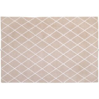 Little Love by NoJo- Plush Rug - Natural Trellis