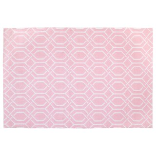 Lille Love by NoJo- Plush Rug - Pink trellis