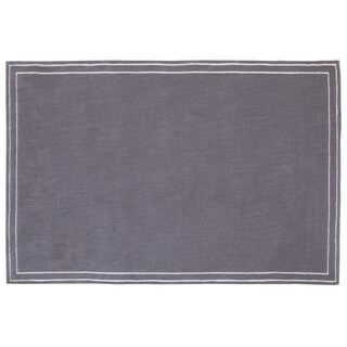 Little Love by NoJo- Plush Rug - Grey w/stripe border