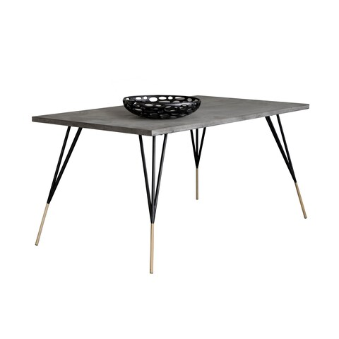 Solterra Midori Grey Rectangular Dining Table