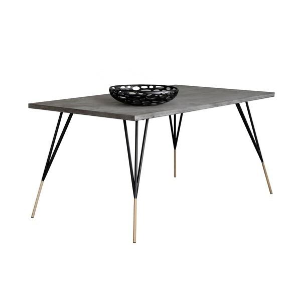 Solterra Midori Grey Rectangular Dining Table. Opens flyout.