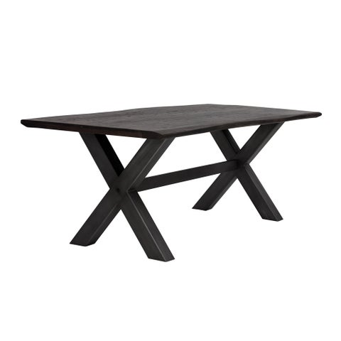 Jagger Brown X-base Dining Table