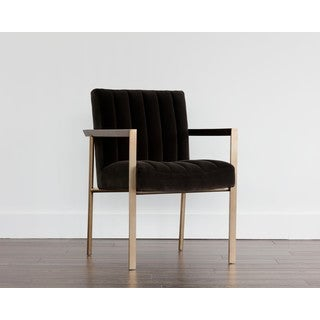 Club Whilhelmina Grey Upholstered Arm Chair