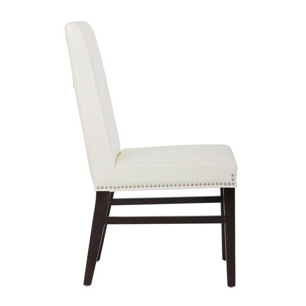 5west Brooke Upholstered Nailhead Side Chairs Set Of 2 Medium Overstock 19842843