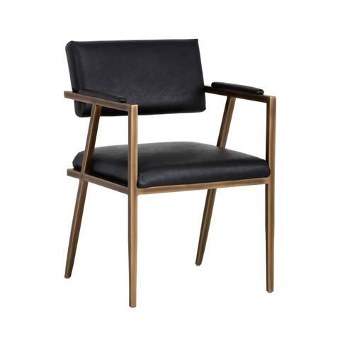 Irongate Ventouz Black Upholstered Arm Chair
