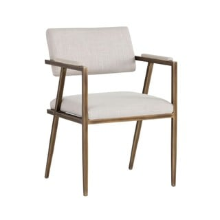Irongate Ventouz Beige Upholstered Arm Chair
