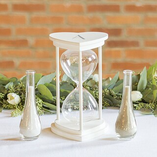 Personalized Silver Unity Sand Ceremony Hourglass Set