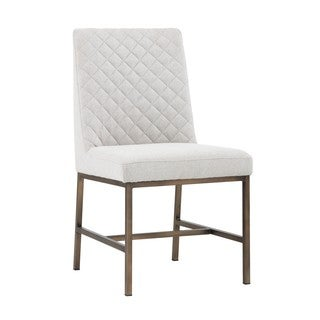5West Leighland Light Grey Upholstered Side Chairs (Set of 2)