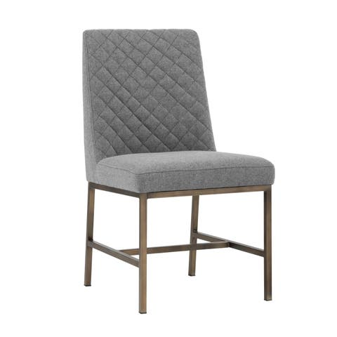 5West Leighland Dark Grey Upholstered Side Chairs (Set of 2) - Medium