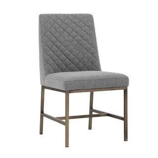 5West Leighland Dark Grey Upholstered Side Chairs (Set of 2)