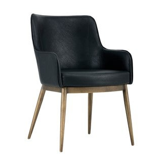 Irongate Franklin Black Upholstered Arm Chair