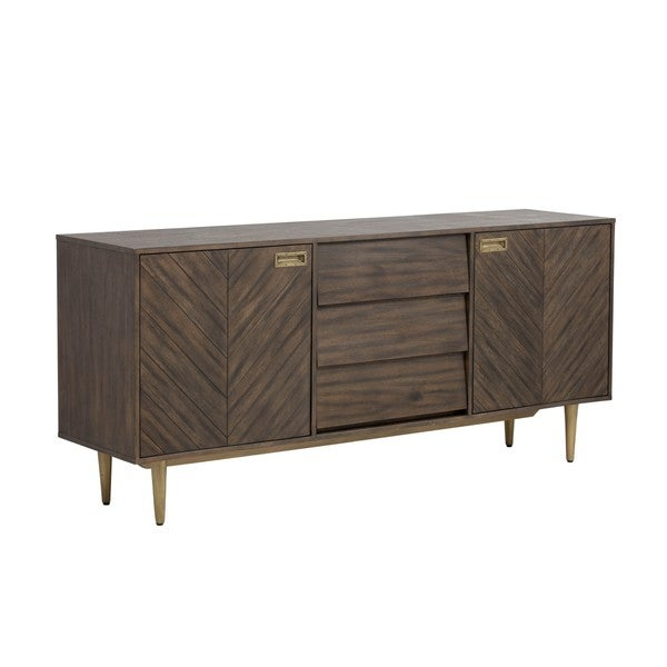 Zenn Greyson Brown 3-drawer Sideboard