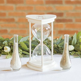 Personalized Floral Unity Sand Ceremony Hourglass Set