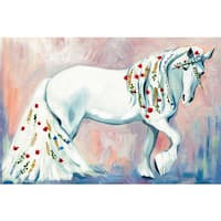 'Unicorn Style' Painting Print on Wrapped Canvas