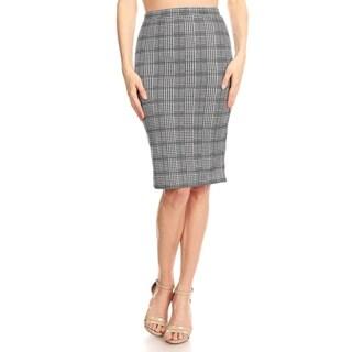 Women's Plaid Pattern Pencil Skirt