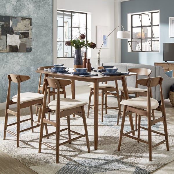 Shop Norwegian Danish Mid Century Dark Walnut Counter Height Dining