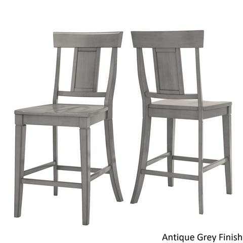 Elena Antique Grey Extendable Counter Height Dining Set - Panel Back by iNSPIRE Q Classic
