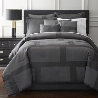 French Impression Gray Hudson 7 Pc Jacquard Comforter Set