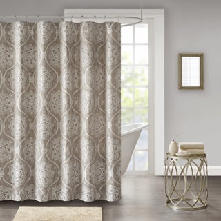 Madison Park Waylon Jacquard Shower Curtain 2 Color Option