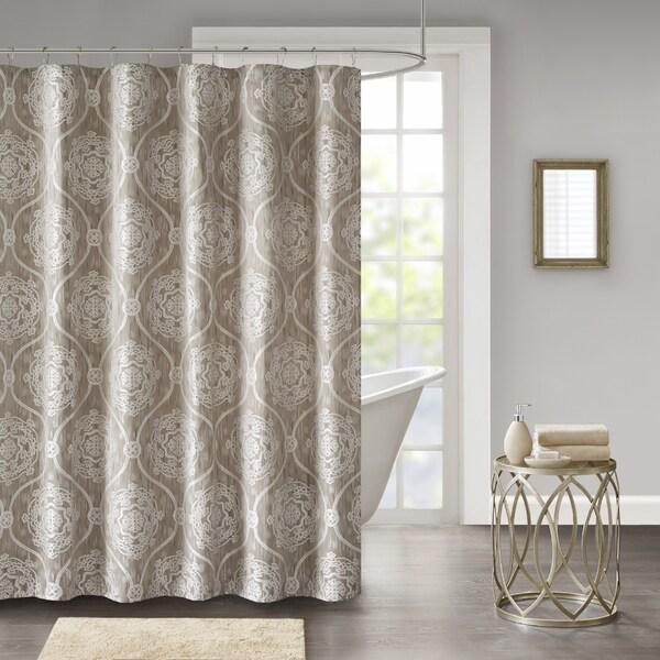Madison Park Waylon Jacquard Shower Curtain 2 Color Option