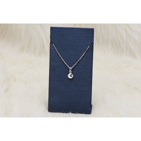 Pori Jewelers Sterling Silver Star & Moon Pendant Necklace