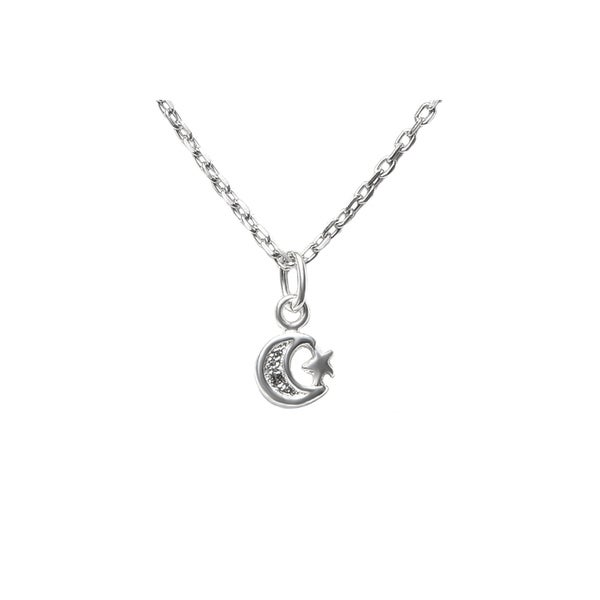 STERLING silver necklace STAR MOON SUN  pendant charm men women life sky love
