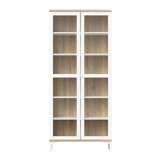 Aberdeen White and Oak 2-door China Cabinet