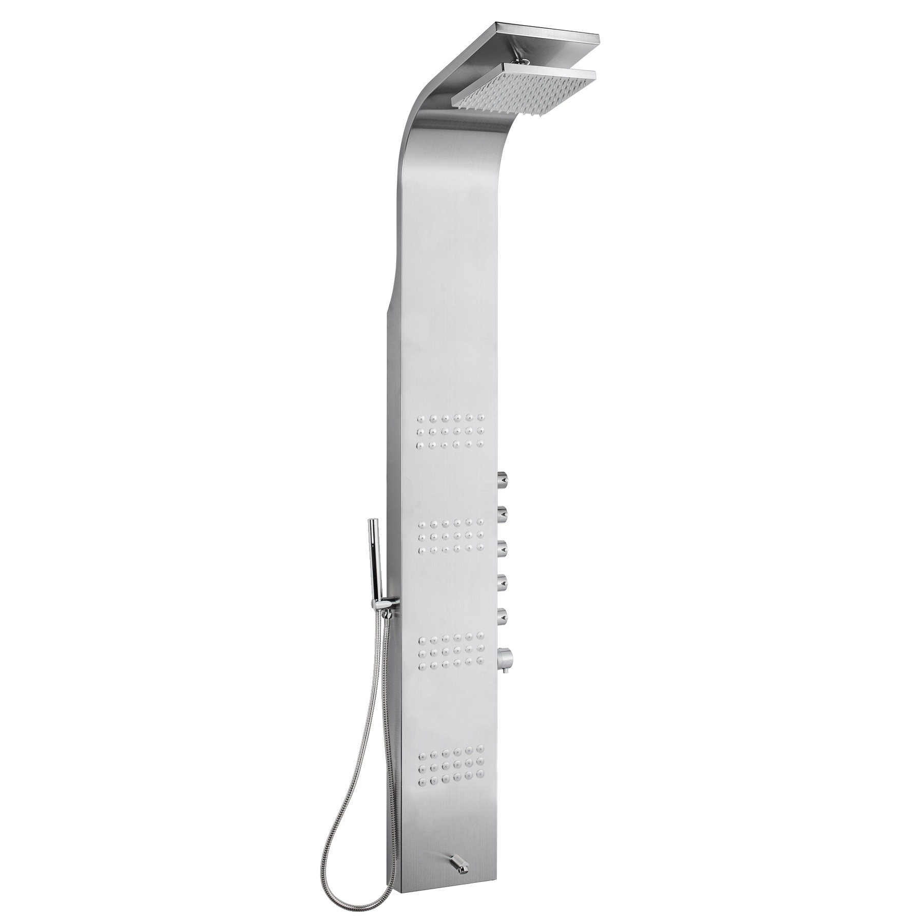 Akdy Sp0013 65 Thermostatic Rainfall Shower Panel Tower Simultaneous Overhead Rainfall Body Massage Jets Hand Shower