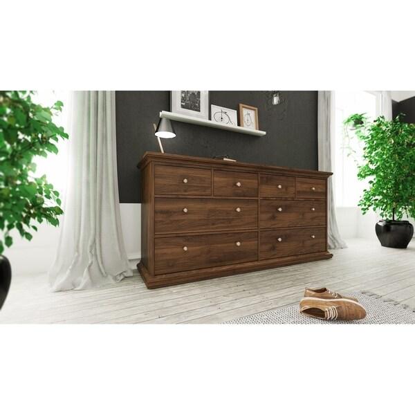 Porch & Den Virginia Walnut 8-drawer Double Dresser