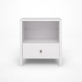 Seattle White Wash Wood Grain 1-drawer Nightstand