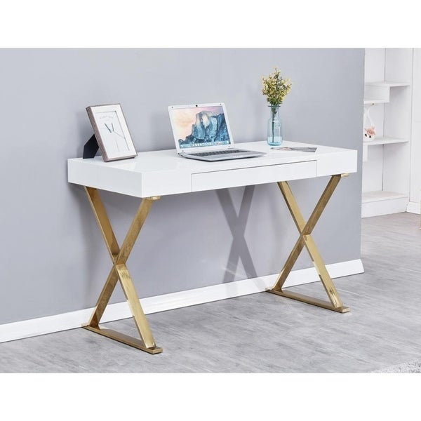 Shop Best Master Furniture Modern White Writing Desk