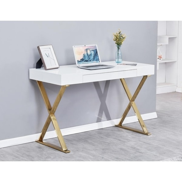 Best Home Furniture Reviews: Shop Best Master Furniture Modern White Writing Desk