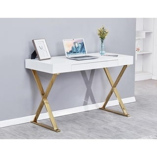 Best Master Furniture Modern White Writing Desk