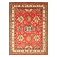 Handmade Herat Oriental Afghan Hand-Knotted Kazak Wool Rug (Afghanistan) - 9'2 x 12'