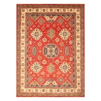 Handmade Herat Oriental Afghan Hand-Knotted Kazak Wool Rug (9'2 x 12') - 9'2 x 12'