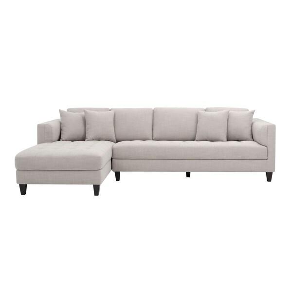 5West Arthur Fabric Tufted Sofa Chaise