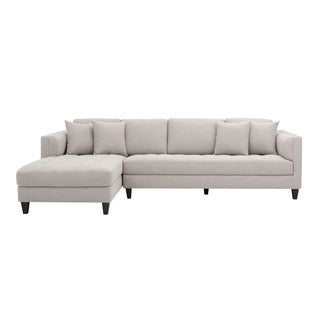 5West Arthur Fabric Tufted Sofa Chaise
