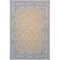 "Aubusson Grey Hand-Woven New Zealand Wool Area Rug (14' 0"" X 20' 3"")"
