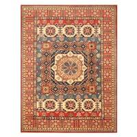 Handmade Herat Oriental Afghan Hand-Knotted Kazak Wool Rug (8'5 x 11'3) - 8'5 x 11'3