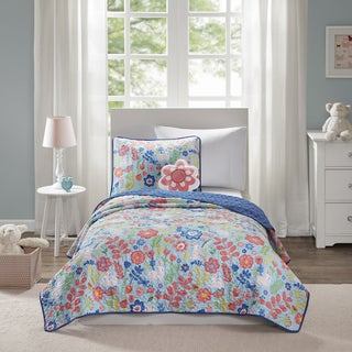 Mi Zone Kids Hoppy Blue 4-piece Coverlet Set