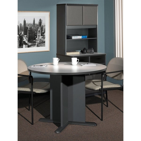 Bush Business Series A C Inch Round Conference Table In Pewter - Series a conference table