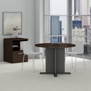 Series C 42 Inch Round Conference Table in Mocha Cherry