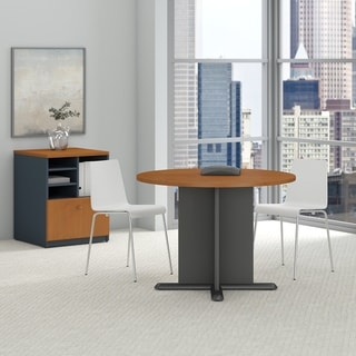 Series A & C 42 Inch Round Conference Table in Natural Cherry