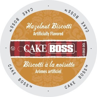 Cake Boss Coffee Hazelnut Biscotti, Single Serve Cups for Keurig Brewers 96 Count