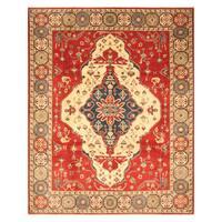 Handmade Herat Oriental Afghan Hand-Knotted Kazak Wool Rug  - 8'1 x 10' (Afghanistan)