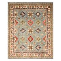 Handmade Herat Oriental Afghan Hand-Knotted Kazak Wool Rug  - 8'2 x 9'10 (Afghanistan)