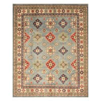 Handmade Herat Oriental Afghan Hand-Knotted Kazak Wool Rug - 8'2 x 9'10