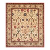 Handmade Herat Oriental Afghan Hand-Knotted Kazak Wool Rug  - 8'2 x 9'7 (Afghanistan)