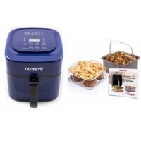 Nuwave Brio 6 Qt. Air Fryer-Blue with Gourmet Accessory Kit