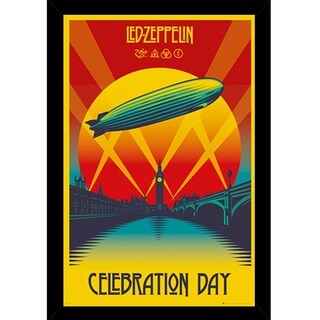 Led Zeppelin Celebration Day Poster With Choice of Frame (24x36)